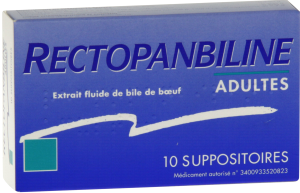 Rectopanbiline adultes, suppositoire